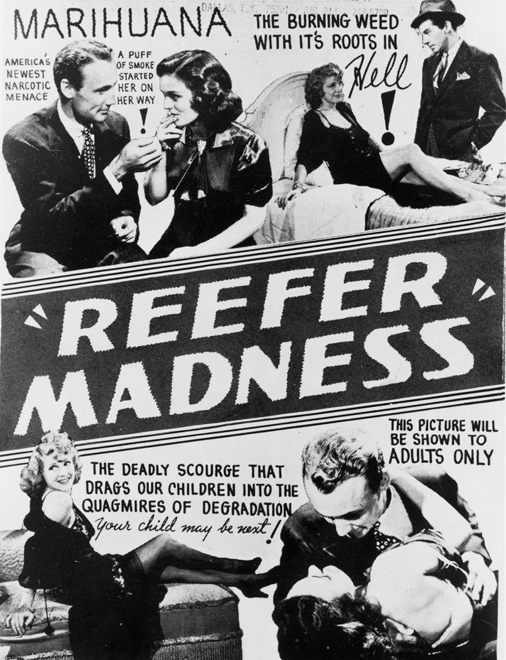 'Reefer Madness' debuts in 1936.