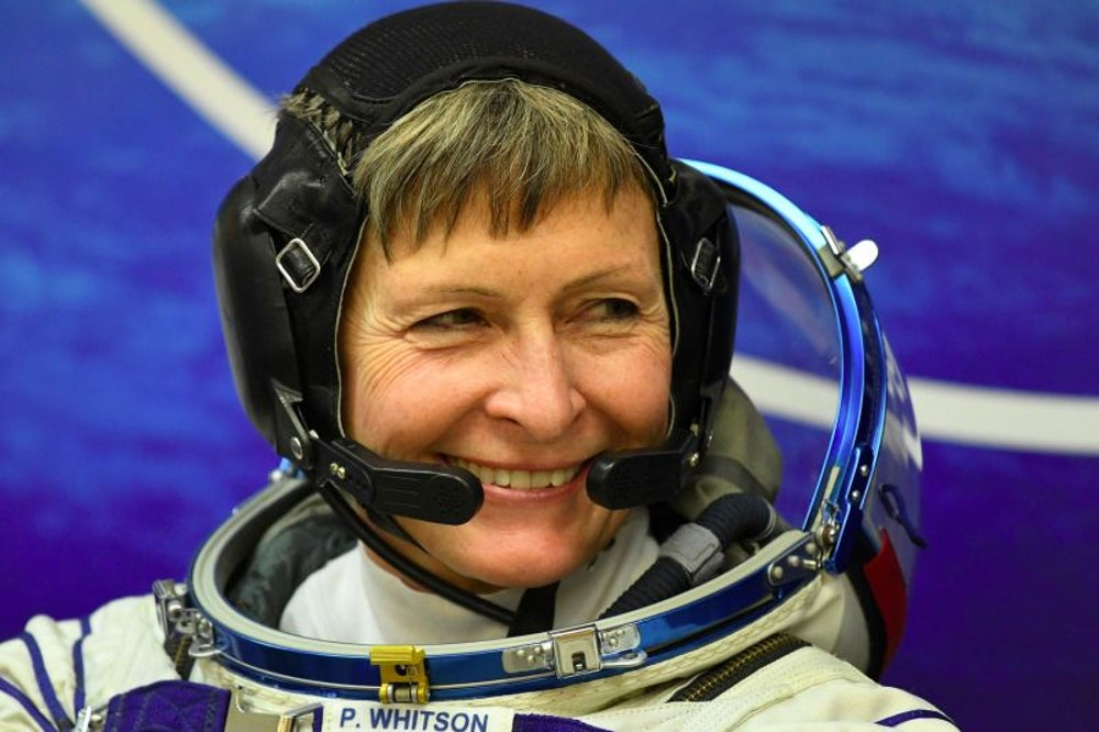 Peggy Whitson sets record for most days spent in space by a U.S. astronaut.