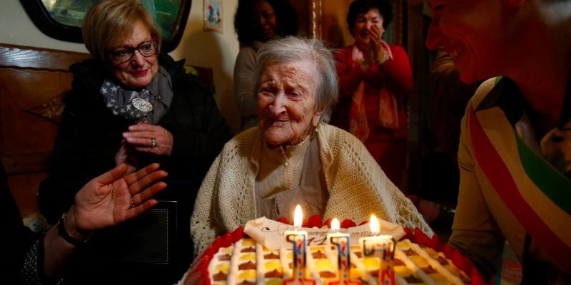 Emma Morano, the oldest person in the world and the last born in the 19th century