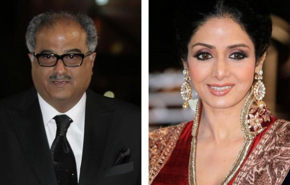 Boney Kapoor and SrI Devi