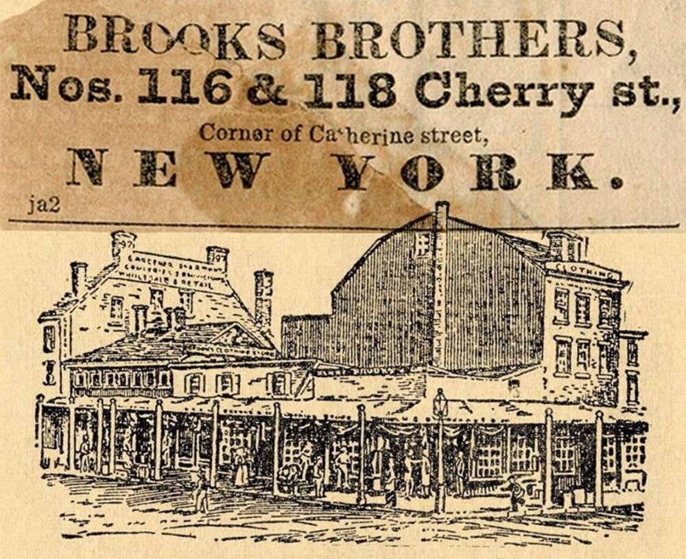 Clothing: Brooks Brothers founded in 1818