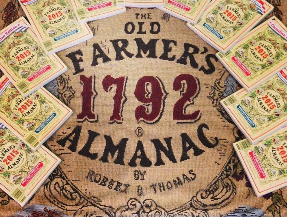 Almanacs: Old Farmer's Almanac founded in 1792