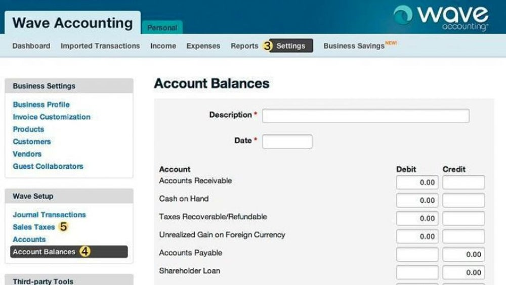 Accounting from Wave