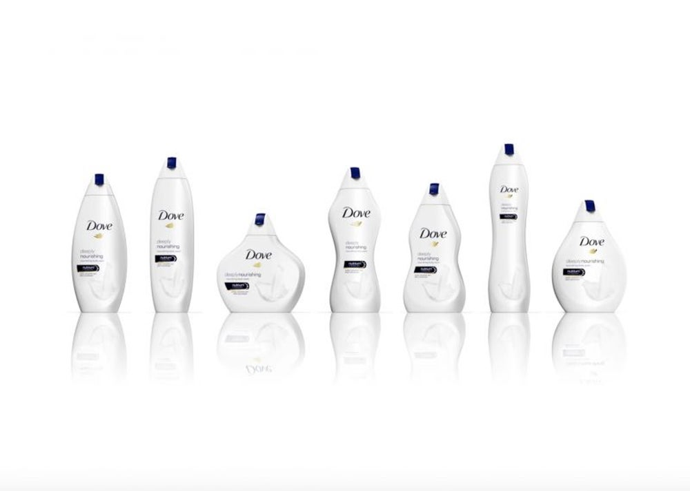 Dove releases body wash bottles to match the shape of women's bodies.