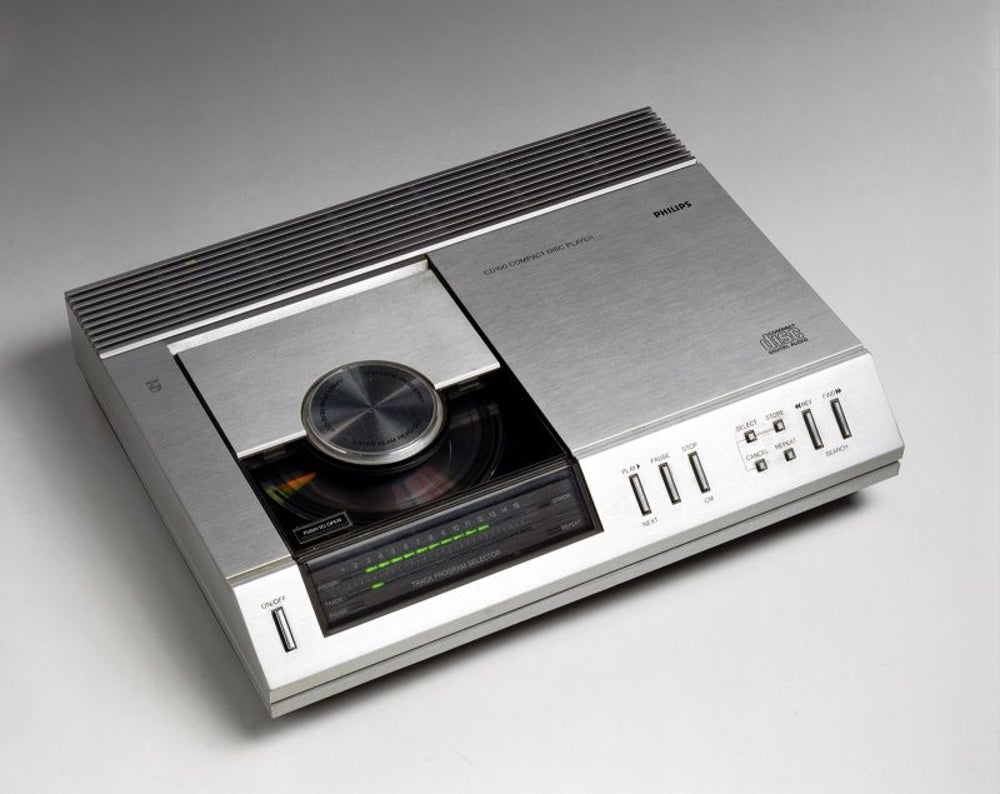 CD player, 1982