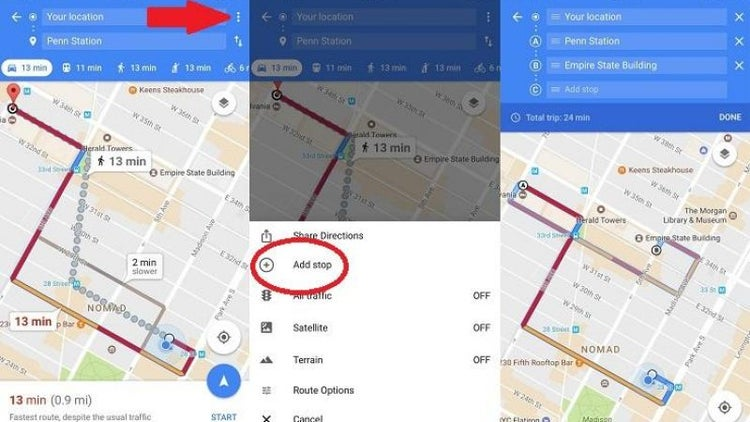 Google Maps Tricks You Need To Try - Google maps multiple stops