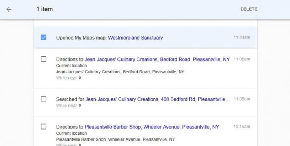 View (and change) your Google Maps history.