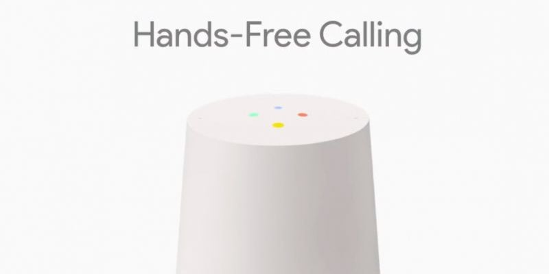 Hands-free calling on Google Home