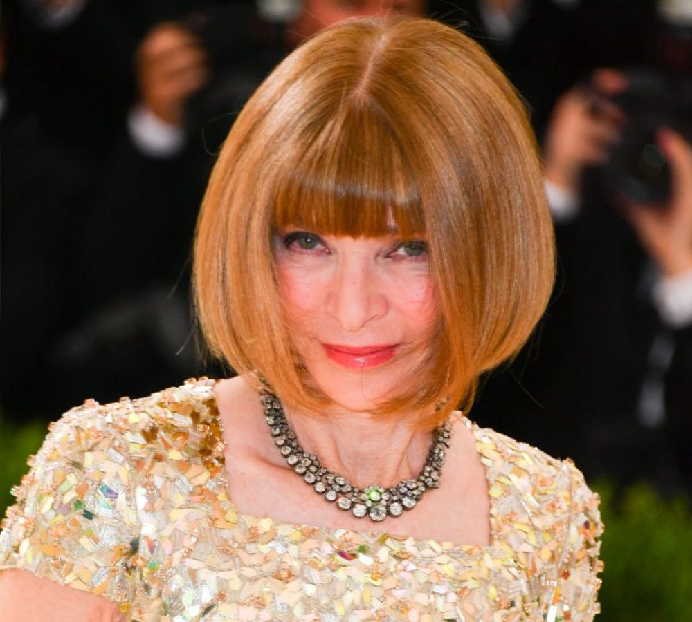 Anna Wintour turns being shy on and off.