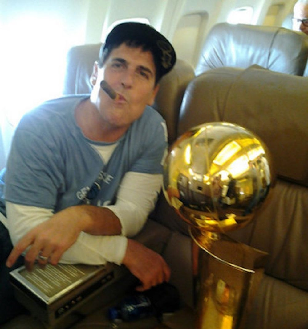Mark Cuban consumes words like Warren Buffet eats ice cream.