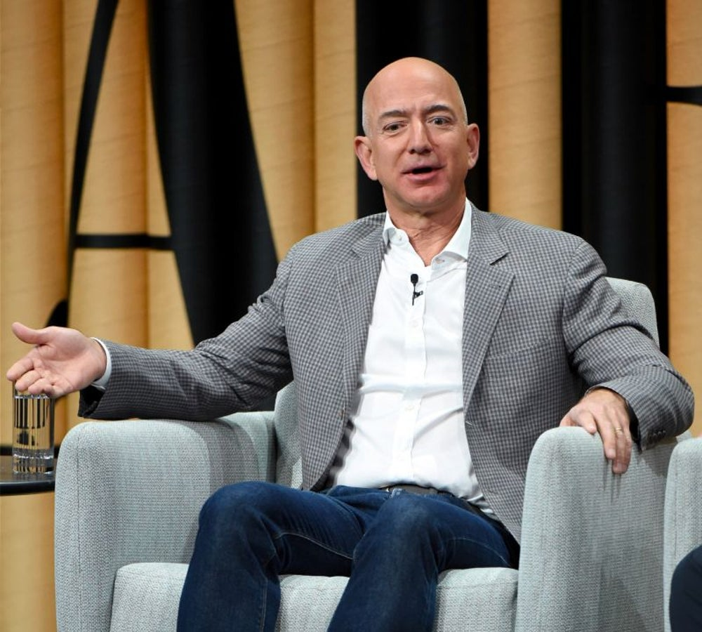 Jeff Bezos doesn't skimp on sleep.