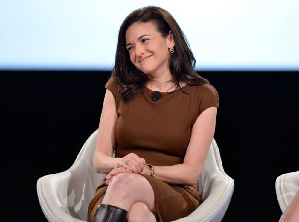 Sheryl Sandberg unplugs at night.