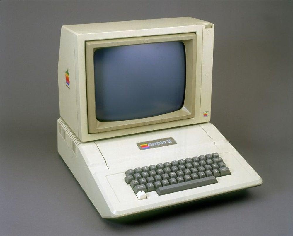 Apple II arrives on the scene.