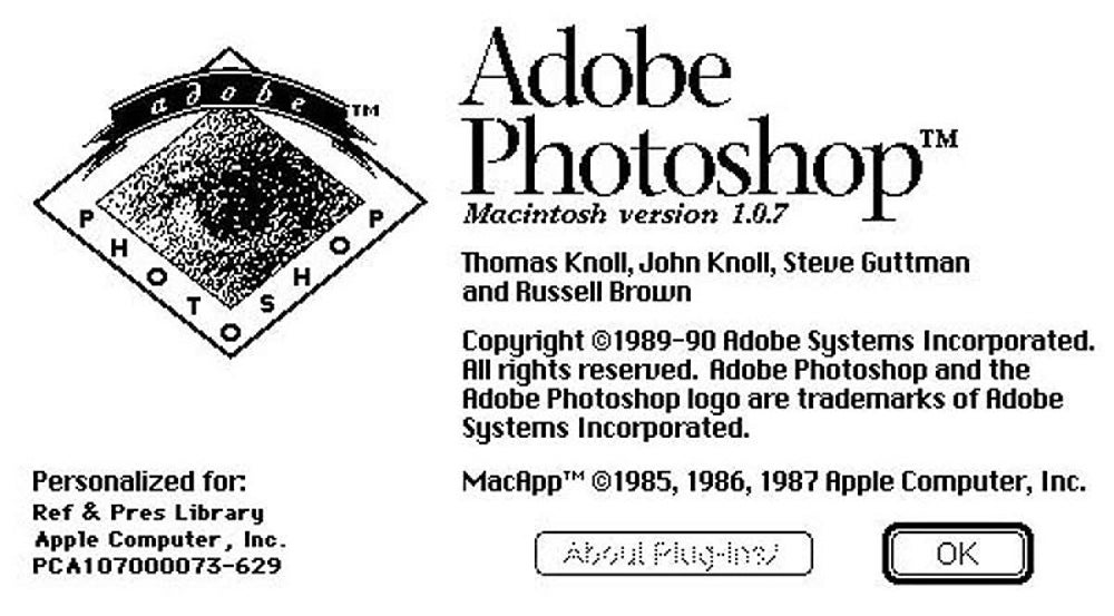 Adobe Photoshop, 1990