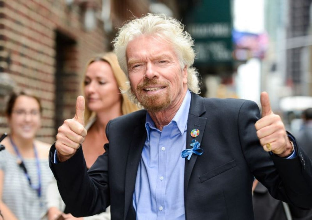 Richard Branson, 20 cups (of tea)