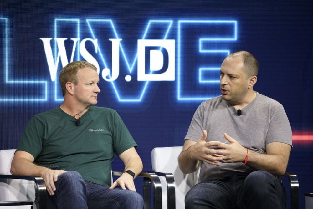 Jan Koum and Brian Acton, WhatsApp