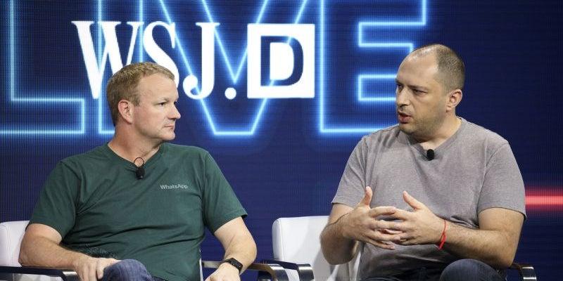 Jan Koum and Brian Acton, WhatsApp
