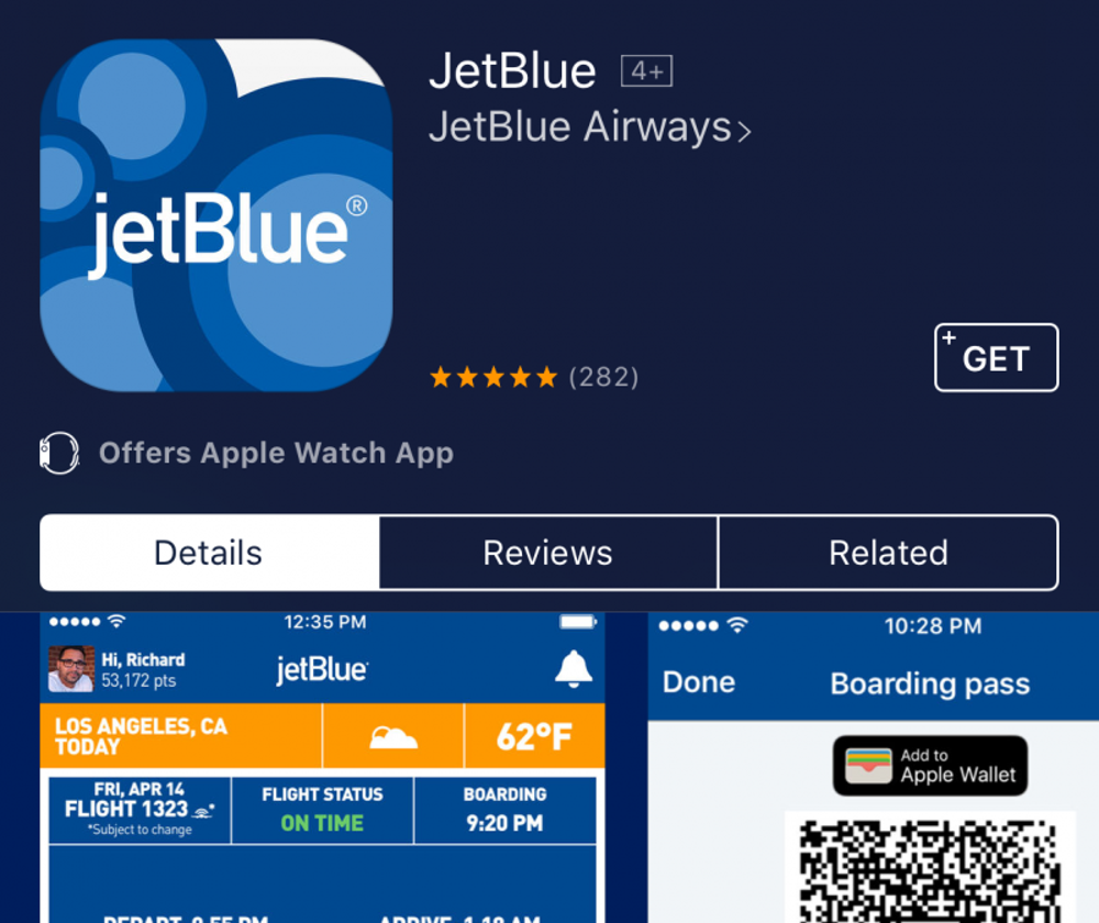 Download the airline's app.