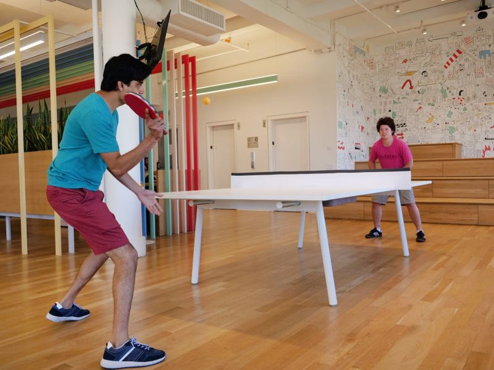 This ping-pong table transforms