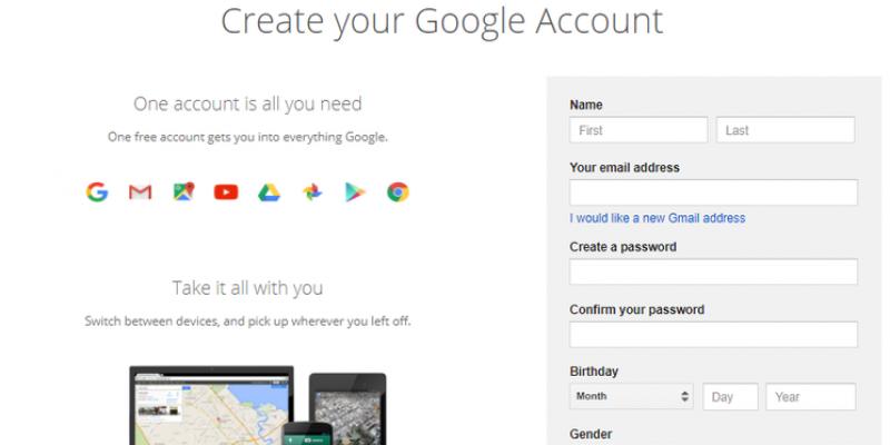 Sign up for Google sans Gmail