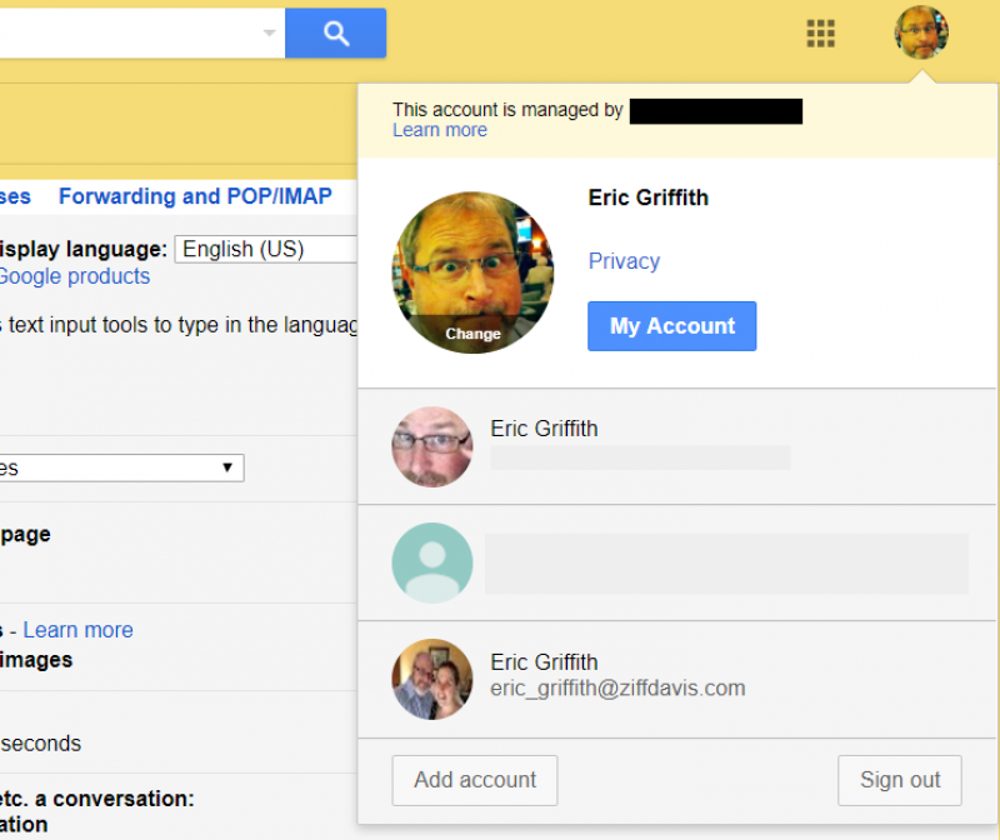 Use multiple Gmail accounts