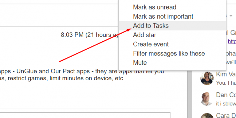 Add to Tasks or Create Event