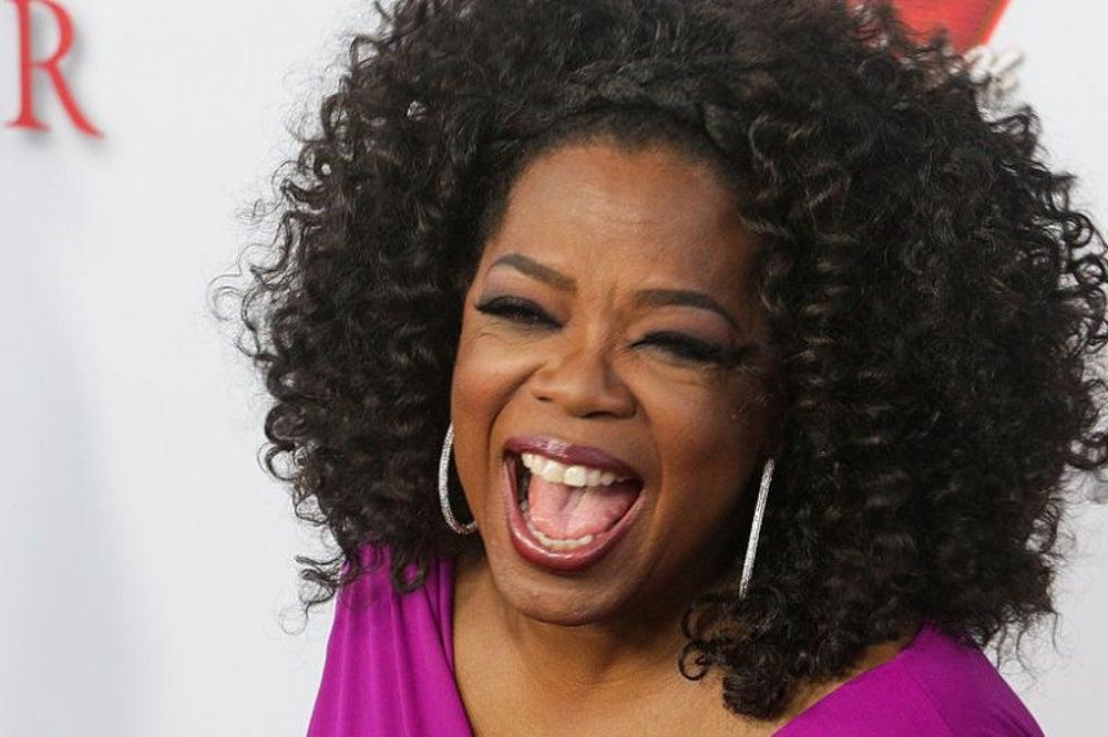 Oprah Winfrey, tipsy