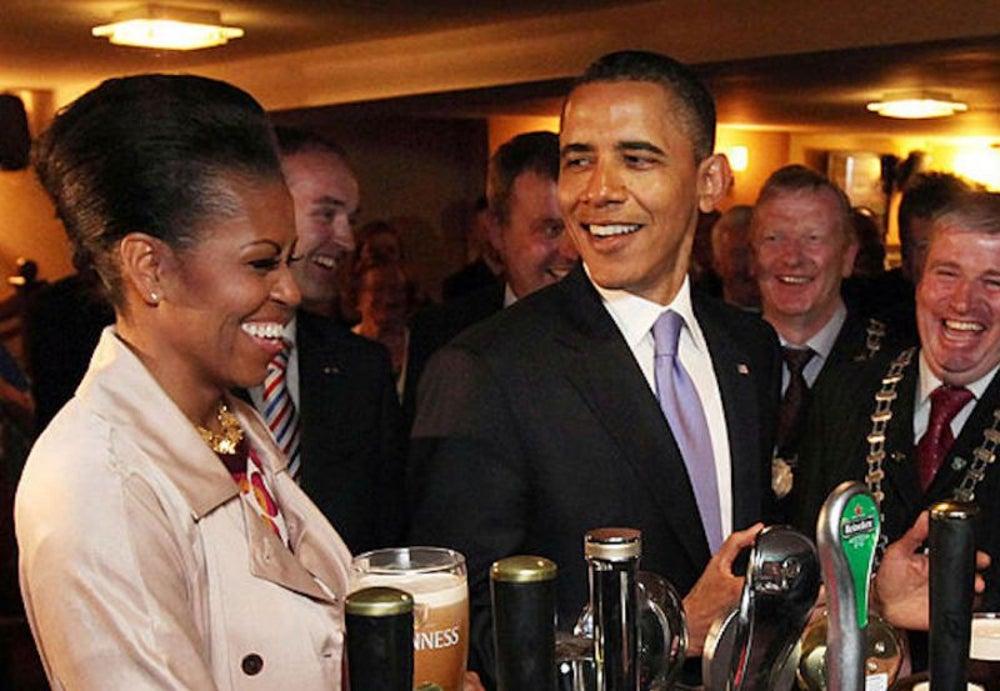 Barack Obama, tipsy