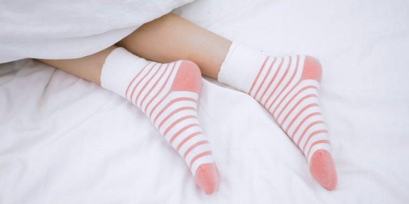Put on socks.