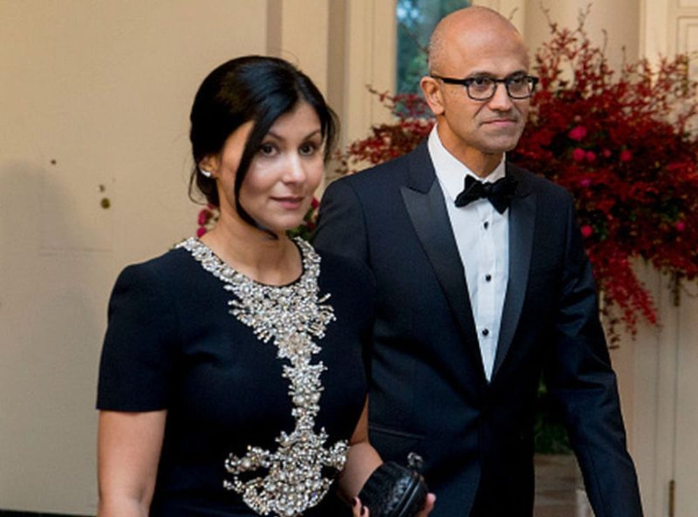 Satya and Anu Nadella