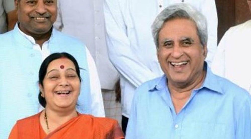 Sushma Swaraj and Swaraj Kaushal