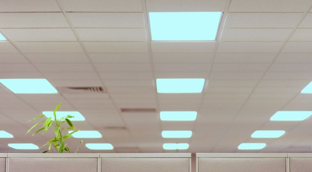 Fluorescent lighting is straining your eyes.