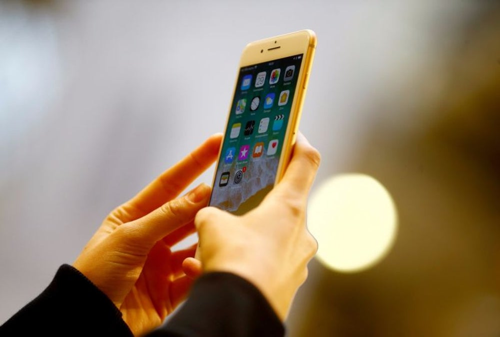 Customers' iPhone screens -- potentially