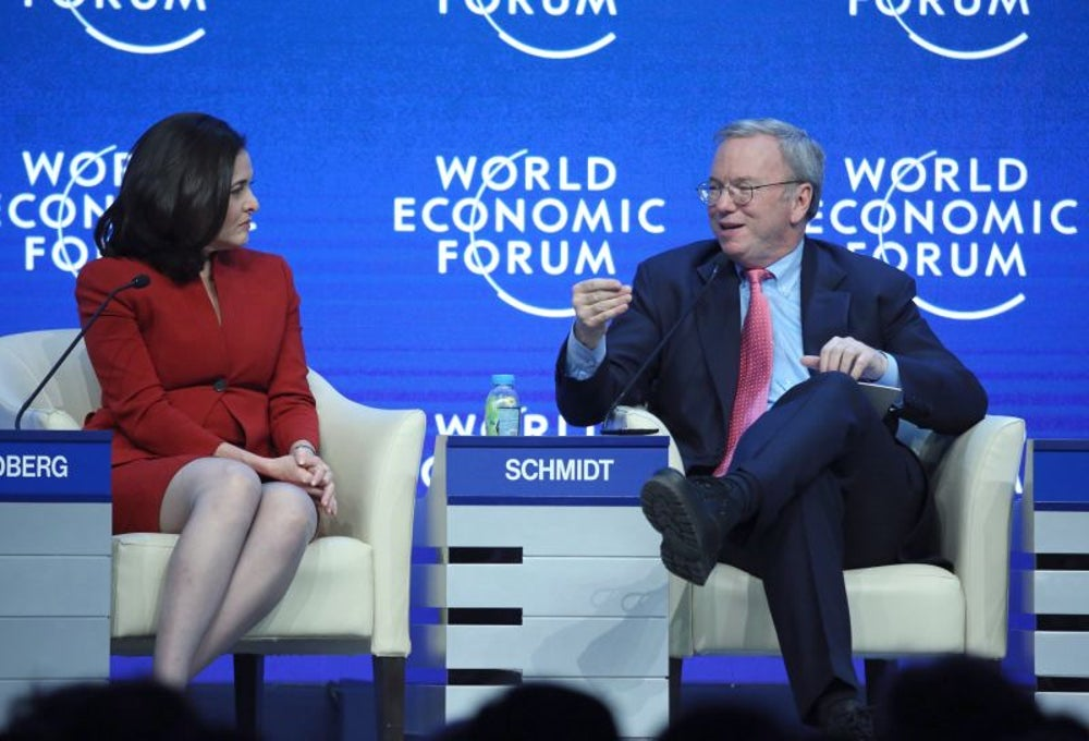 Eric Schmidt convinced her to join his team.