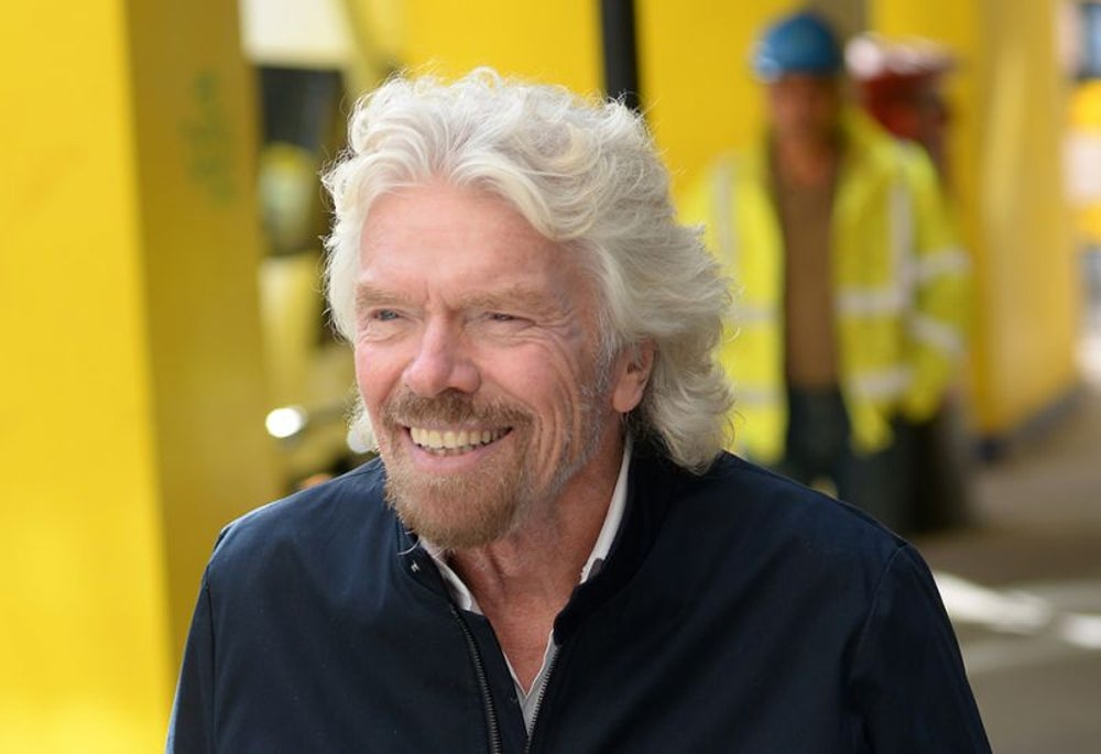 Richard Branson totally disconnects when he's on vacation.