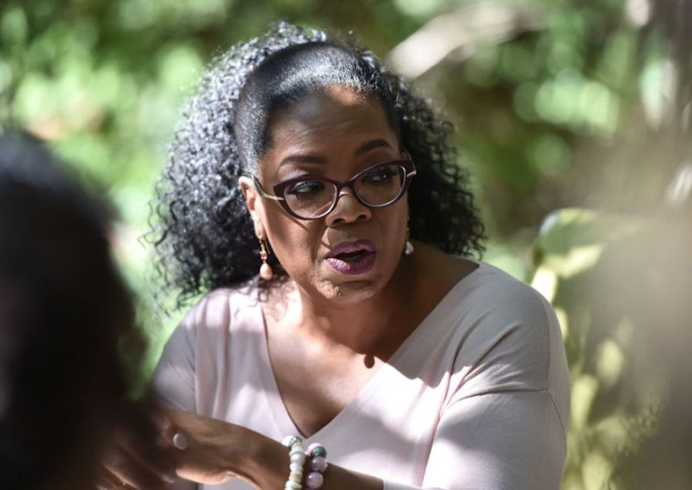 Oprah Winfrey takes time to meditate.