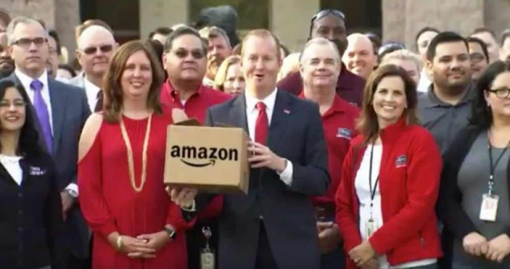 Frisco, Texas -- an offer to build the rest of its city around Amazon.