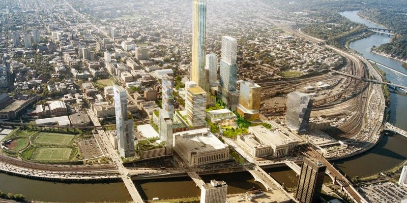 Philadelphia -- three sites that would collectively span 28 million square feet.