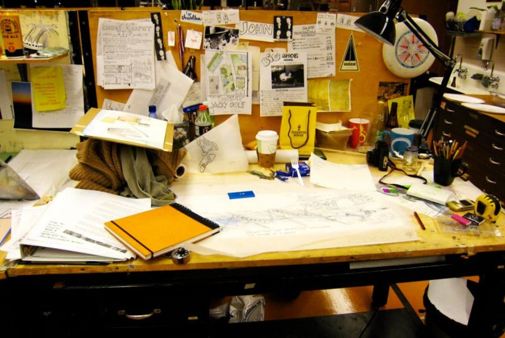 Keeping a messy desk