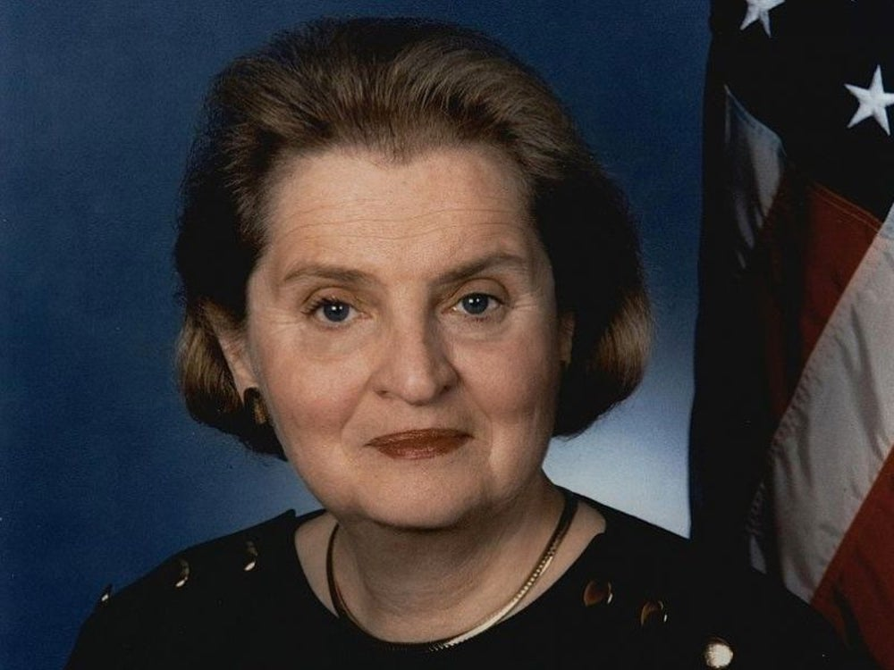 Former U.S. Secretary of State Madeline Albright was raising a family while beginning her political career.