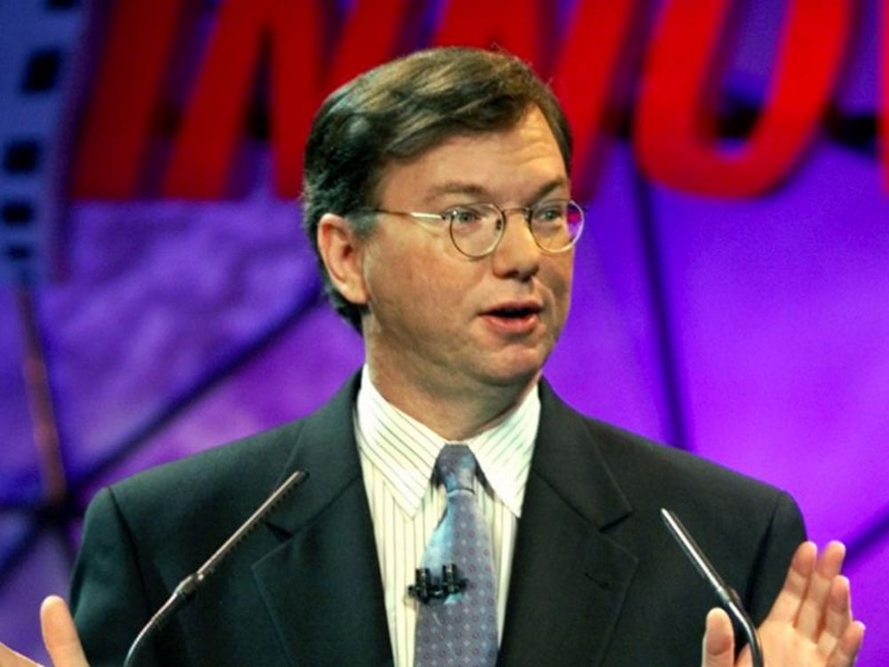 Google Executive Chairman Eric Schmidt was building a deep background in computer science.
