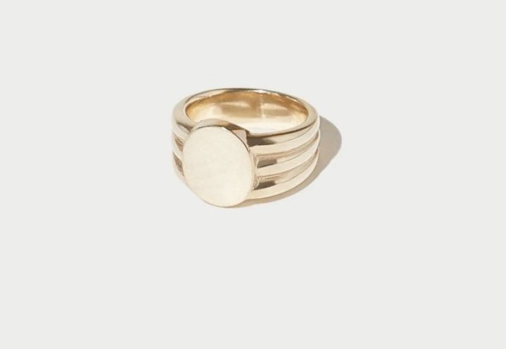 Stacked Signet Ring