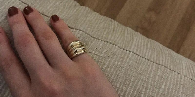 Hannah wearing her own polish and rings
