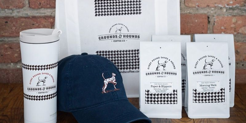 Grounds & Hounds coffee set