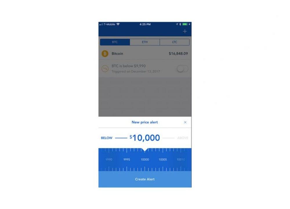 Create a price alert