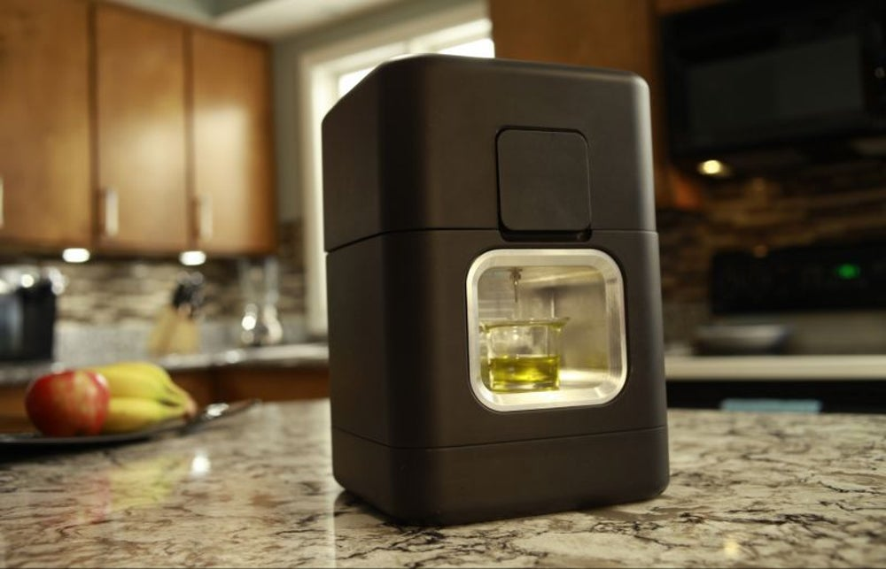 A Keurig-like machine for aromatherapy, edibles and more.