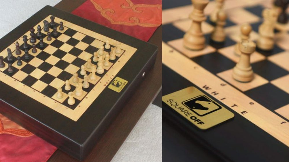 A Harry Potter-like chess board with pieces that move on their own.