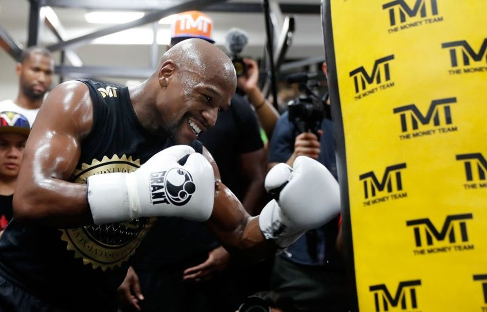 An app that lets you train like Floyd Mayweather.