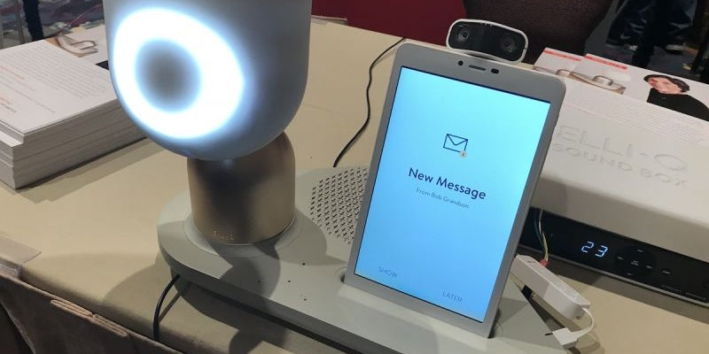 A robot to help older adults message loved ones.
