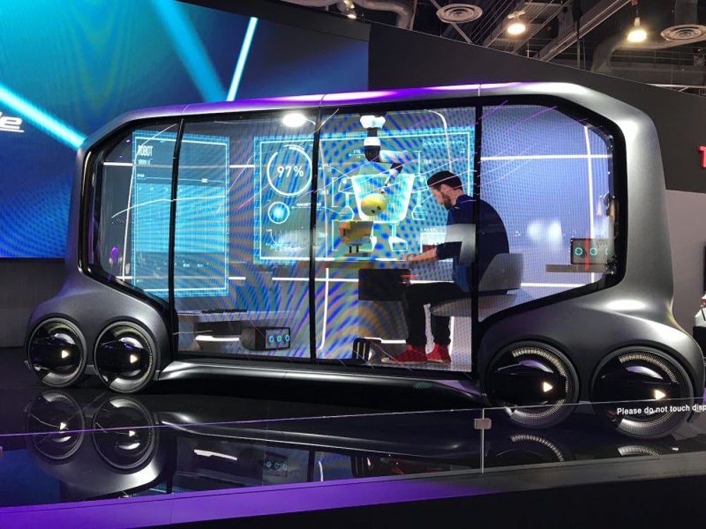 A self-driving van concept from Toyota that could deliver Pizza Hut and more
